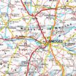 Franciaország térkép (Freytag)