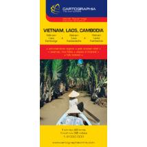 Cartographia  - Vietnám/Laosz/Kambodzsa térkép