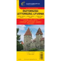 Cartographia  - Észtország/Lettország/Litvánia térkép