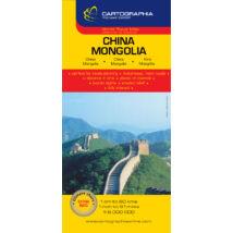 Kína, Mongólia térkép