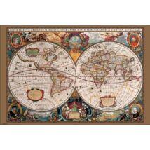 Történelmi világtérkép (17. század) - keretes