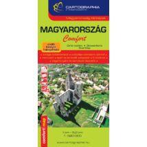 Cartographia  - Magyarország Comfort térkép (laminált)