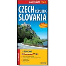 Csehország, Szlovákia Comfort térkép