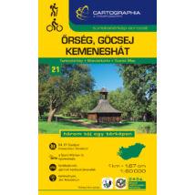 Cartographia  - Őrség, Göcsej, Kemeneshát turistatérkép [21]