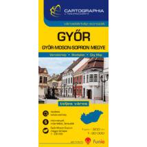 Cartographia  - Győr várostérkép (+Győr-Moson-Sopron megye térképe)