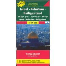Izrael, Palesztina, Szentföld térkép