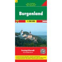 Ausztria résztérkép 3. Burgenland térkép