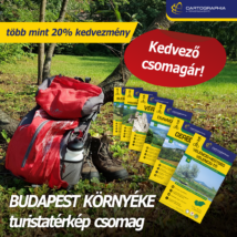 BUDAPEST KÖRNYÉKE turistatérkép csomag: 6 db Cartographia turistatérkép több mint 20% KEDVEZMÉNNYEL