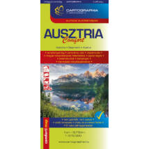 Ausztria Comfort LAMINÁLT térkép