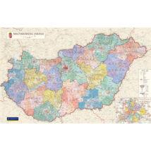 Magyarország járásai II. falitérkép - választható méret és kivitel