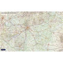 Magyarország autóutakkal falitérkép - választható méret és kivitel