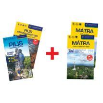 Mátra 3in1 és Pilis és Visegrádi-hegység 4in1 outdoor kalauz + vÍzálló térkép + AJÁNDÉK 2 db turistatérkép + hátizsák!