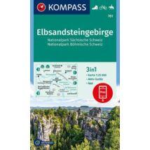 K 761 Elbsandsteingebirge, Szász-Svájc és Böhmisch-Svájc Nemzeti Park turistatérkép