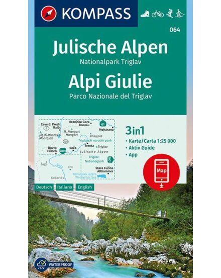 Cartographia  - Júliai_Alpok, Triglav Nemzeti Park  turistatérkép