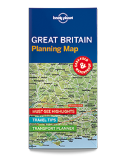 Cartographia  - Nagy-Britannia laminált térkép Lonely Planet