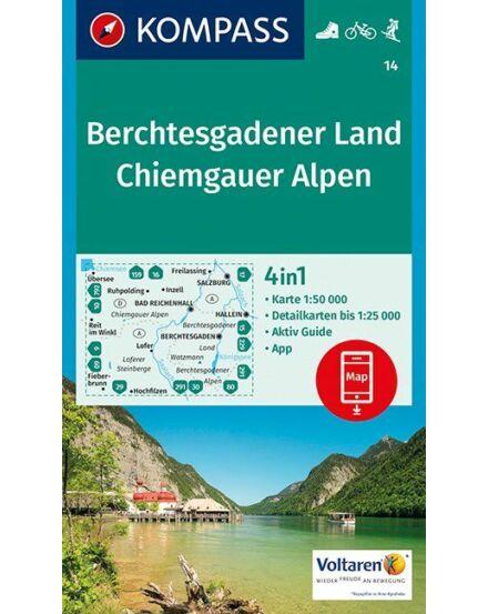 Cartographia  - K 14 Berchtesgadener Land, Chiemgauer Alpen turistatérkép