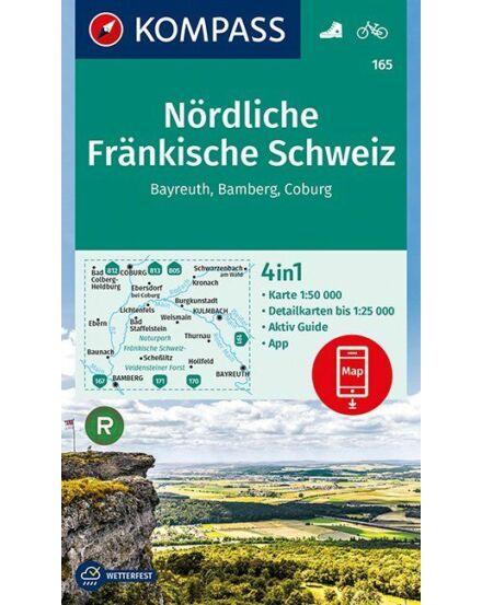Cartographia  - K 165 Frank-Svájc északi rész turistatérkép