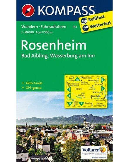 Cartographia  - K 181 Rosenheim Bad Aibling, Wasserburg am Inn turistatérkép