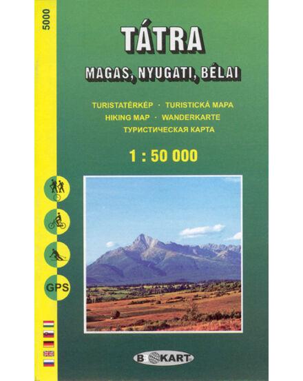 Cartographia  - TP5000 Tátra (Magas-, Nyugati-, Bélai) 1:50e. turistatérkép