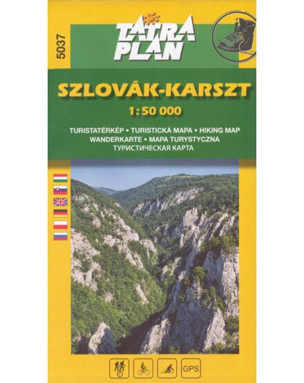Cartographia  - TP5037 Szlovák-karszthegység turistatérkép