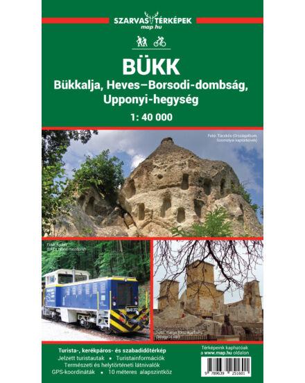 Cartographia  - Bükk, Heves-Borsodi-dombság, Upponyi-hegység turistatérkép