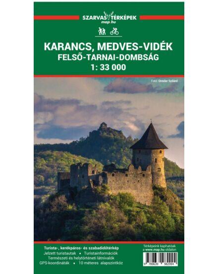 Cartographia  - Karancs, Medves-vidék, Felső-Tarnai-dombság turistatérkép