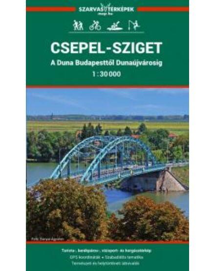 Cartographia  - Csepel-sziget, Duna (Bp.-Dunaújváros) biciklis, vízisport-, turista- és horgásztérkép