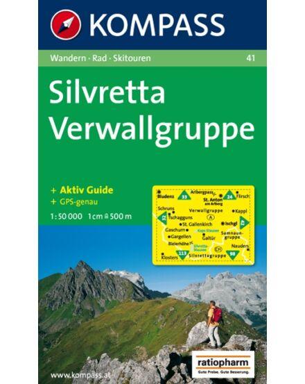 Cartographia  - Montafon - Gargellen - Bielerhöhe - Silvretta turistatérkép
