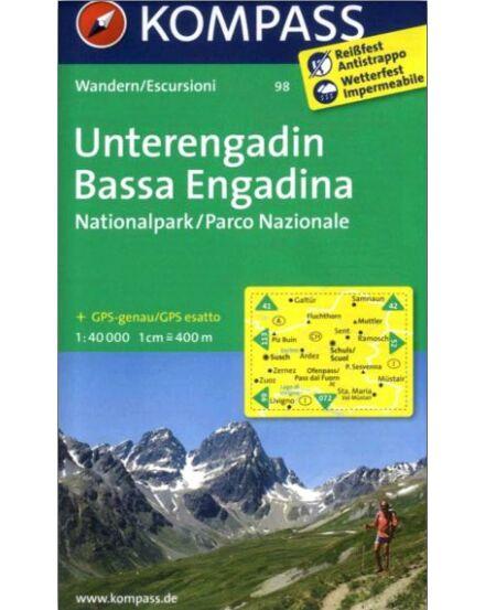 Cartographia  - K 98 Unterengadin turistatérkép