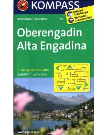 Cartographia  - K 99 Oberengadin turistatérkép