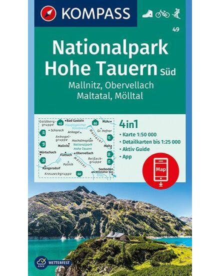 Cartographia  - K 49 Hohe Tauern Nemzeti Park Déli rész (Mallnitz, Obervellach, Maltatal, Mölltal) turistatérkép