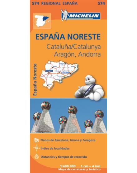 Cartographia  - Spanyolország régiótérkép Aragon, Katalónia