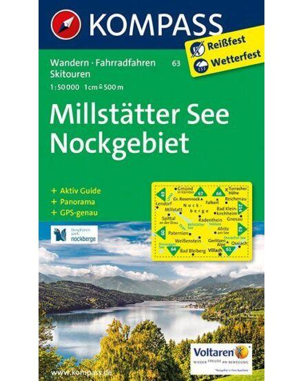 Cartographia  - K 63 Millstatti-tó, Nockgebiet turistatérkép