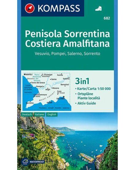Cartographia  - K 682 Sorrentói-félsziget és Amalfi-part turistatérkép