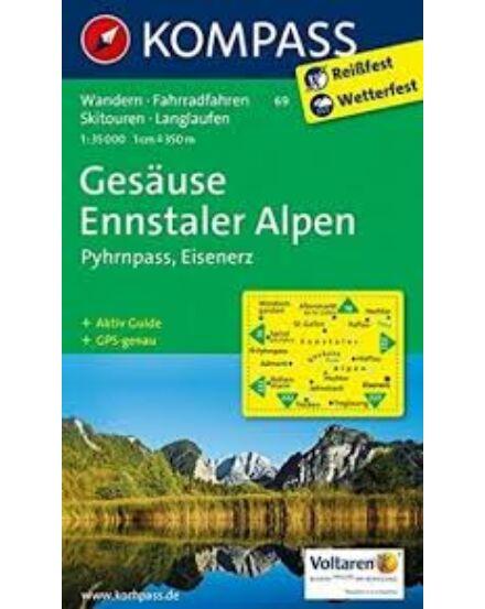 Cartographia  - K 69 Gesäuse, Ennstal Alpok turistatérkép