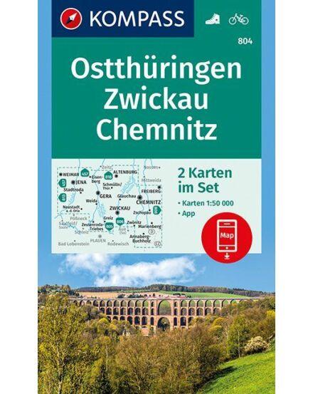 Cartographia  - K 804 Kelet-Türingia, Zwickau, Chemnitz turistatérkép