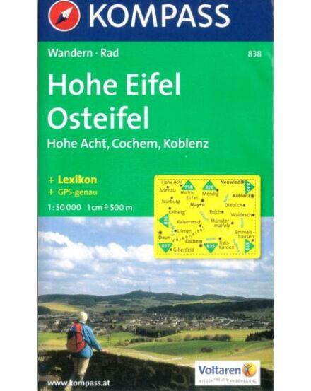 Cartographia  - K 838 Hohe Eifel, Osteifel, Hohe Acht, Cochem, Koblenz turistatérkép