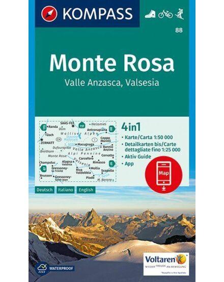 Cartographia  - K 88 Monte Rosa turistatérkép