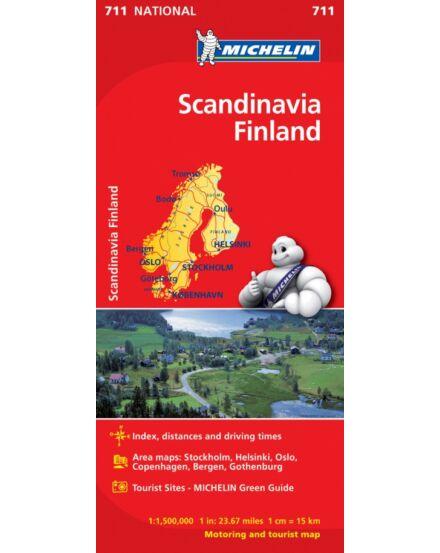 Cartographia  - Skandinávia és Finnország térkép (711)