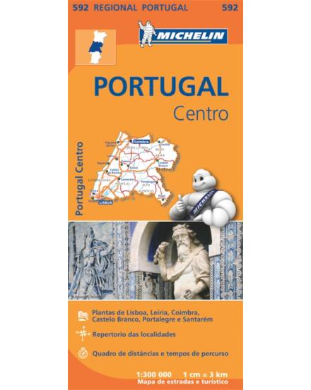 Cartographia  - Portugália-Közép térkép - Michelin 0592