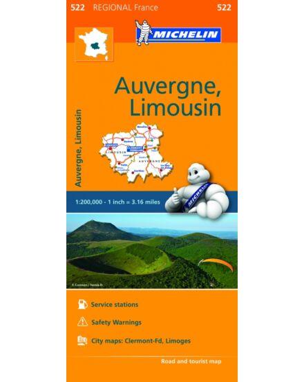 Cartographia  - Auvergne Limousin résztérkép