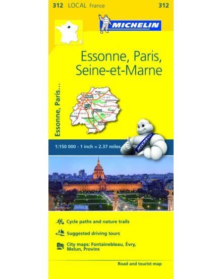 Cartographia  - Essonne , Párizs , Seine-et-Marne résztérkép
