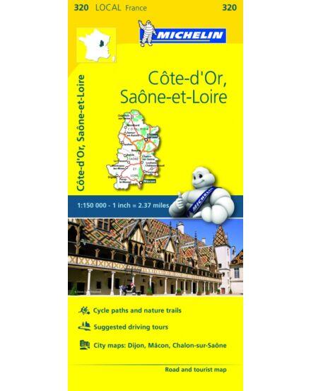 Cartographia  - Cote-D'Or , Saone-et-Loire résztérkép