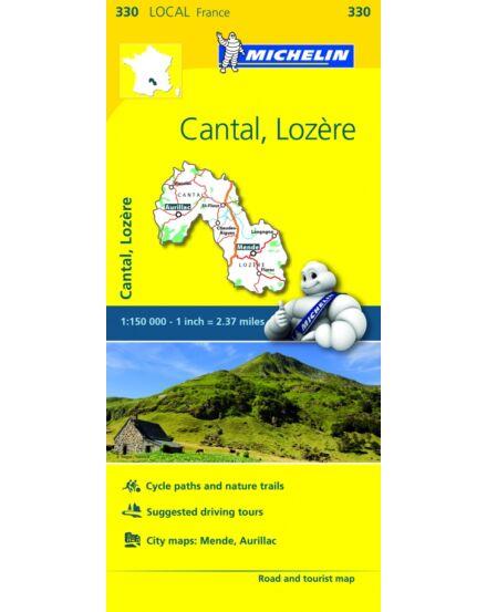 Cartographia  - Cantal, Loere résztérkép