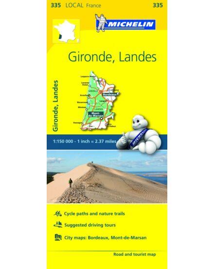 Cartographia  - Gironde , Landes résztérkép