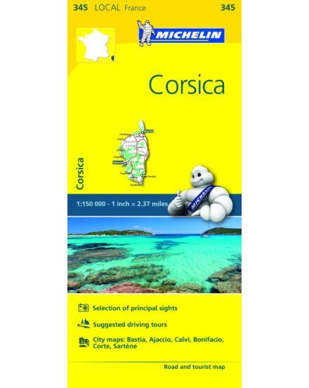 Cartographia  - Korzika térkép - Michelin 345