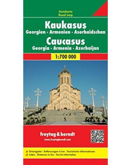 Cartographia  - Kaukázus, Grúzia, Örményország, Azerbajdzsán térkép