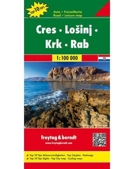 Cartographia  - Cres-Losinj-Krk-Rab térkép