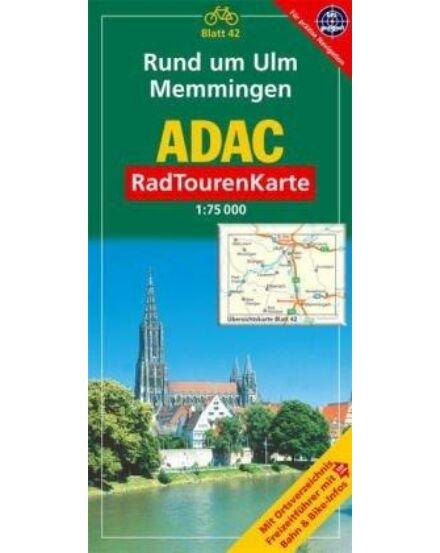 Cartographia  - Ulm és Memmingen környéke kerékpár térkép