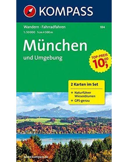 Cartographia  - K 184 München és környéke turistatérkép